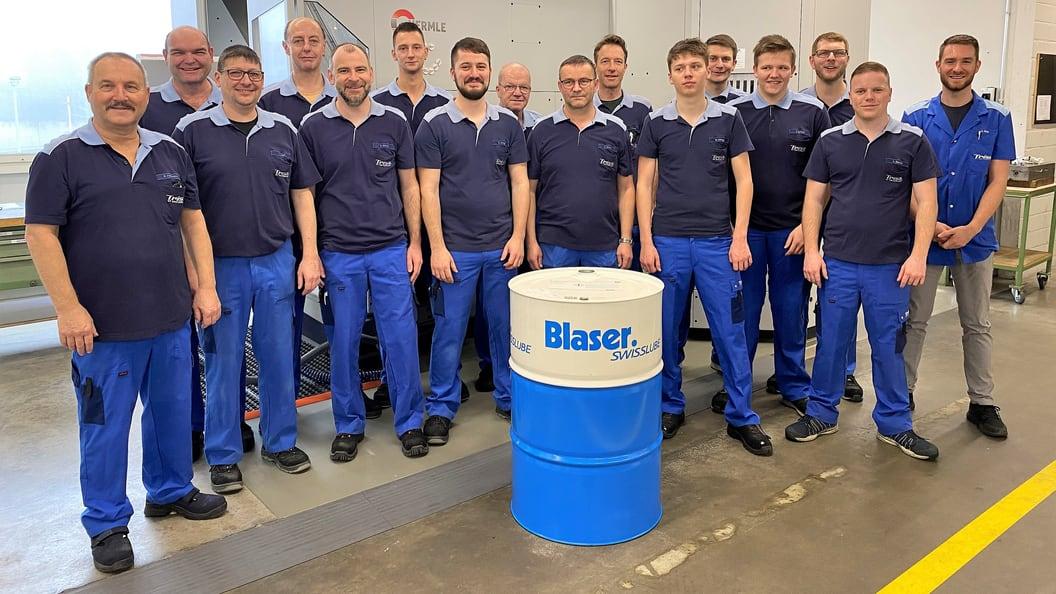 Fertigungs- und Montageteam bei Trisa AG