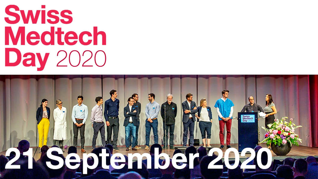 Impression of the presentation of the Swiss Medtech Award 2019