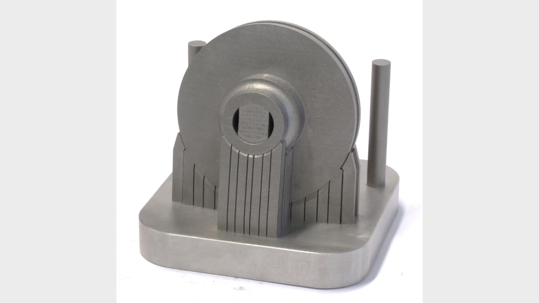 As-built impeller on substrate