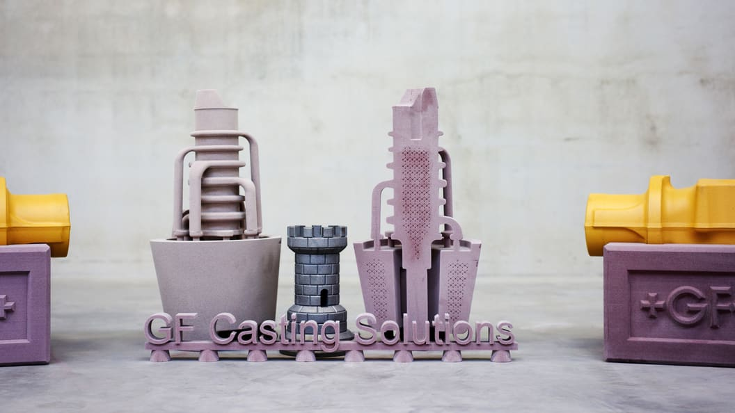 Since 2018, the iron casting location in Leipzig (DE) works successfully with its sand 3D printer.