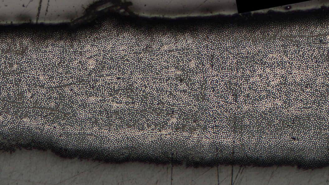 Micrograph Photo: University of Bayreuth Fiber: 5 layers 1k-CF-PEEK APS GmbH