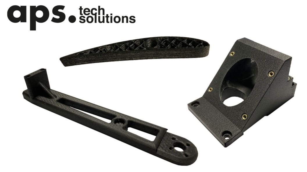 3D printing with continuous carbon fiber