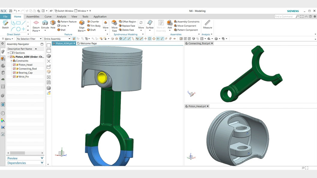 Explore the powerful 3D modeling capability of NX CAD for designing mechanical parts and assemblies