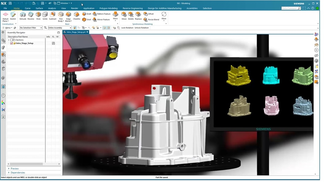 Use reverse engineering tools to incorporate imported 3D scan data into your design