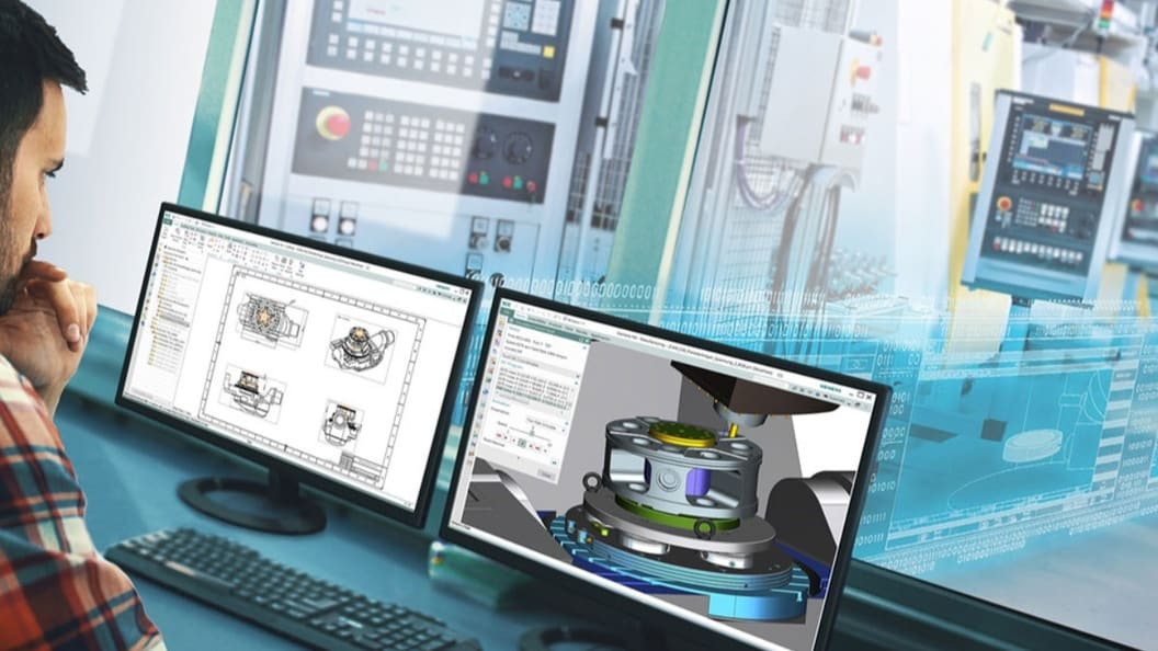 Integrated CAD/CAM software driving end-to-end processes, from 3D designs to finished parts