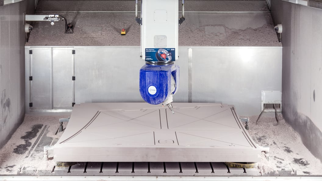 The production of the vacuum clamping device  from polyurethane block material