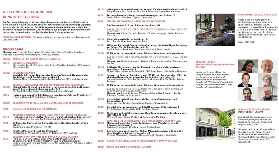Programm der Technologietagung