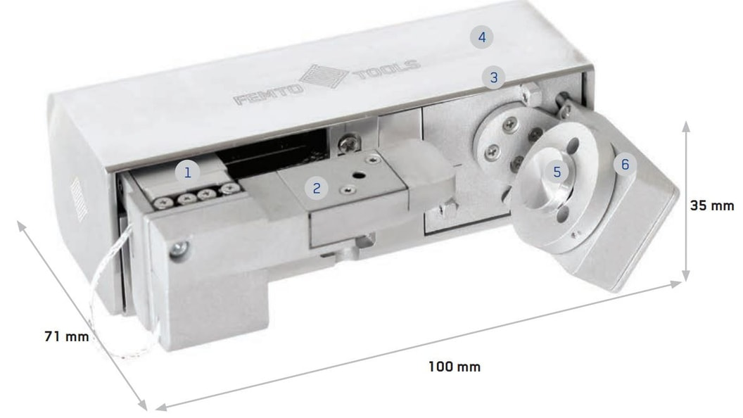 FT-NMT03 Nanomechanical Testing System mit additiv gefertigter Abdeckung bei Position 2