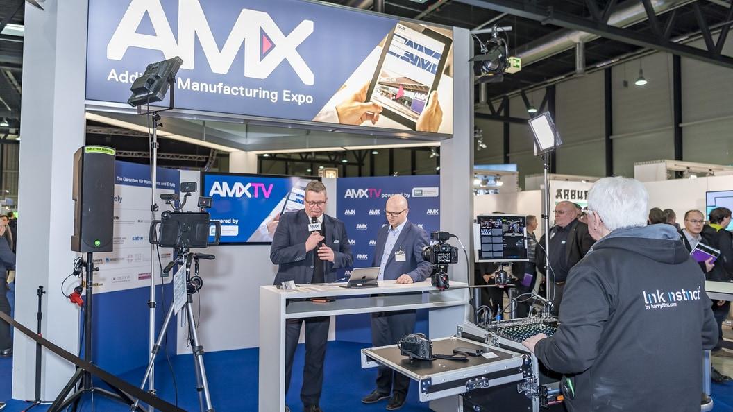 Dank dem Video-Team ist die AM Expo auch auf dem digitalen Treffpunkt Additively erlebbar.