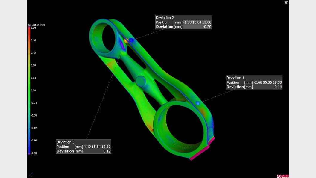 Soll/Ist Vergleich eines SLM Bauteiles zu den CAD Daten mittels industrieller Computertomographie