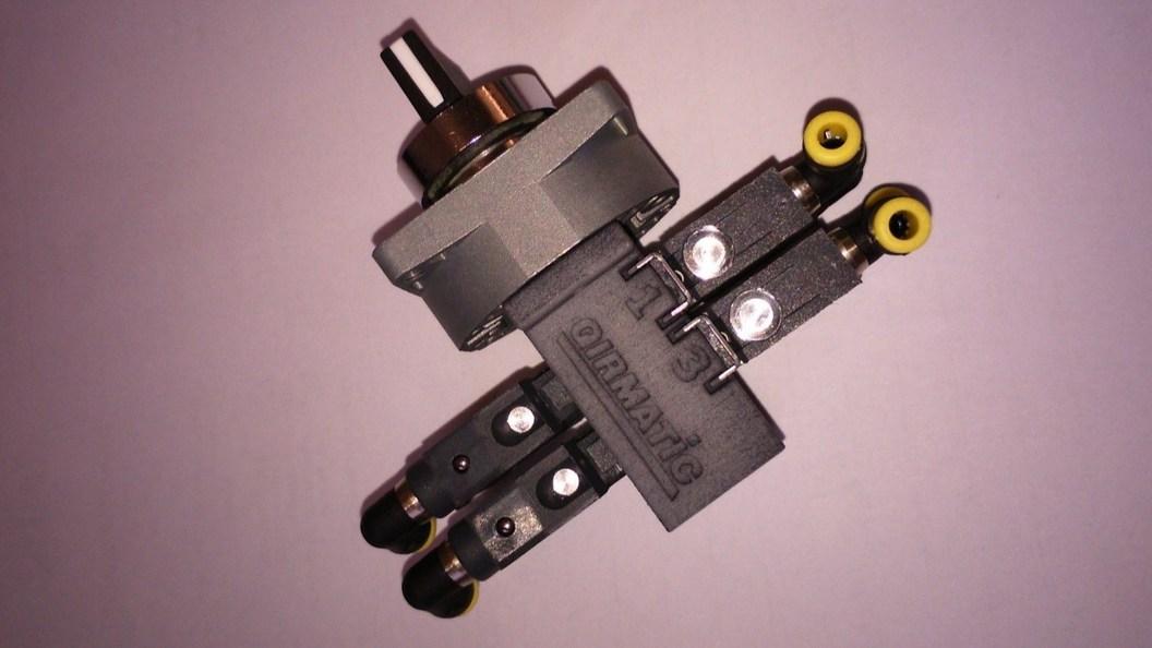 Abbildung 1: Vormontierter 4-fach Wählschalter für Pneumatiksteuerung