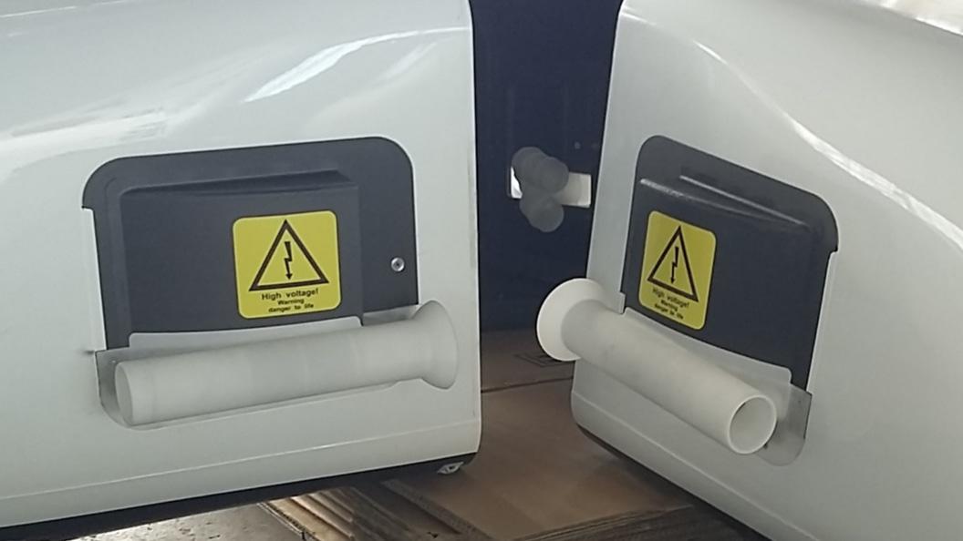 in PA-HF additiv gefertigte Belüftungssysteme, bereit zur Gesamtmontage und für den Flug