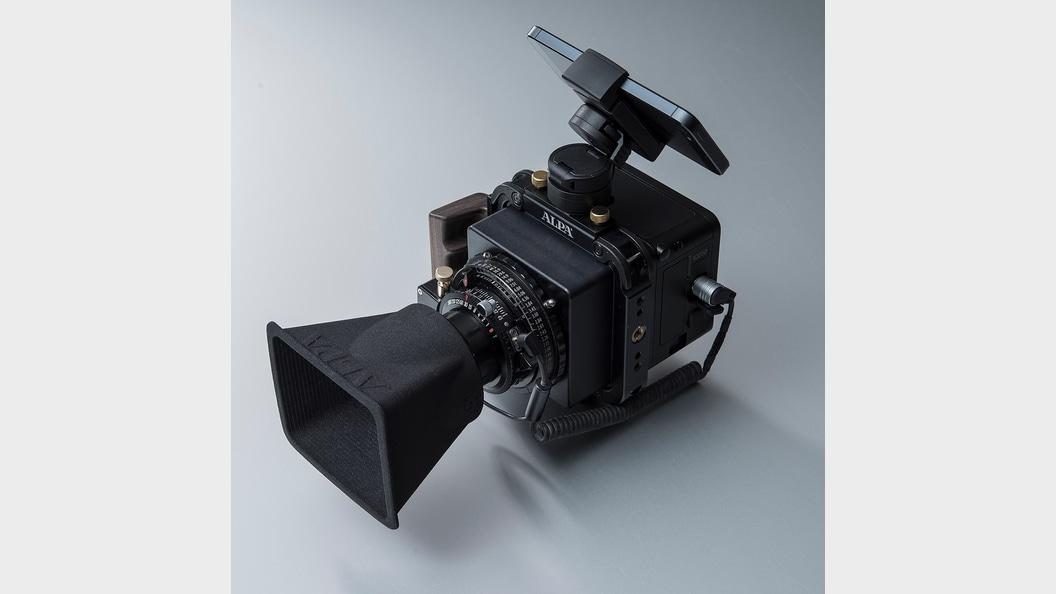 Camera with 3D printed lens shade