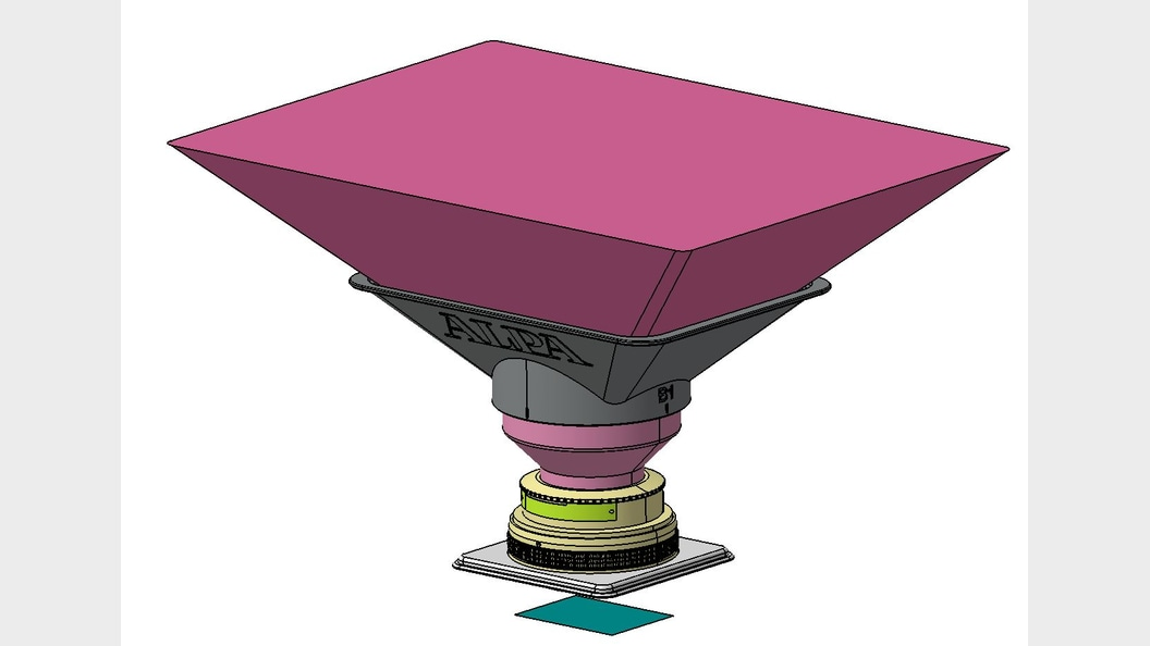 Parametric CAD model of lens shade
