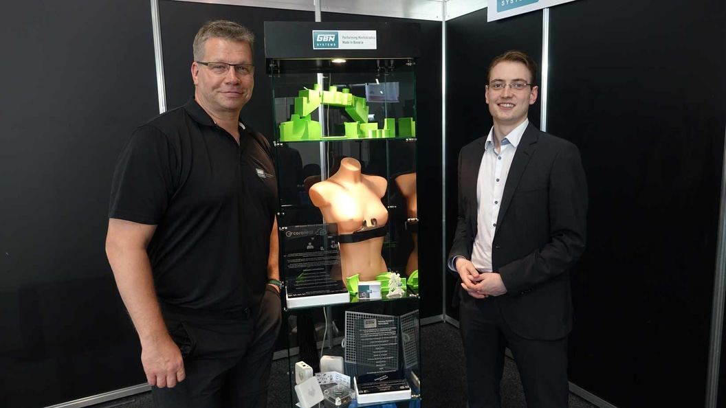 GBN Systems (Harry Flint) and coronect (Norman Krüger) show premiere of coronect chestbelt