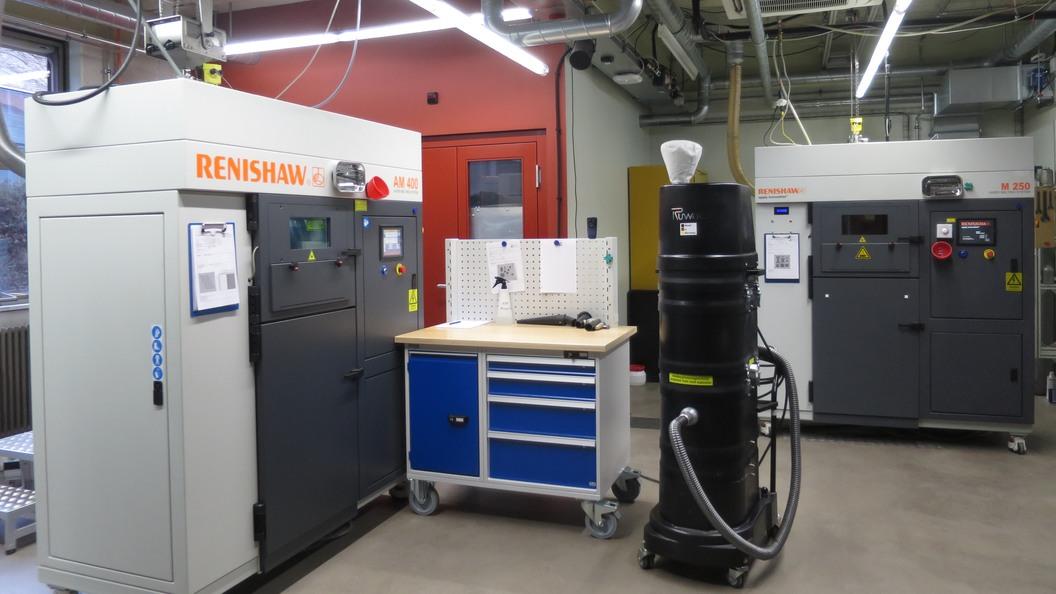Labor für AM (Laserschmelzen im Pulverbett. Powder Bed Laser Melting), metallische Werkstoffe