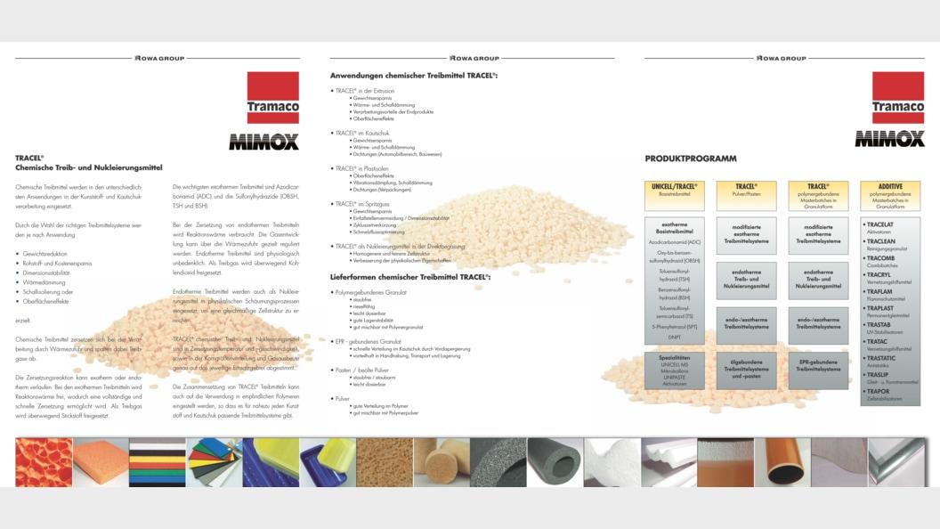 Portfolio Chemische Treibmittel von TRAMACO