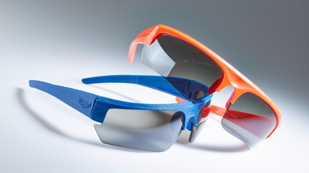 Sportbrille hergestellt im Spritzgiessen und 3D-Druck