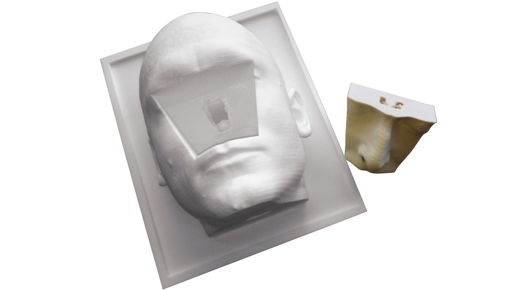 Trainingsmodell mit abgenommenem Nasenteil