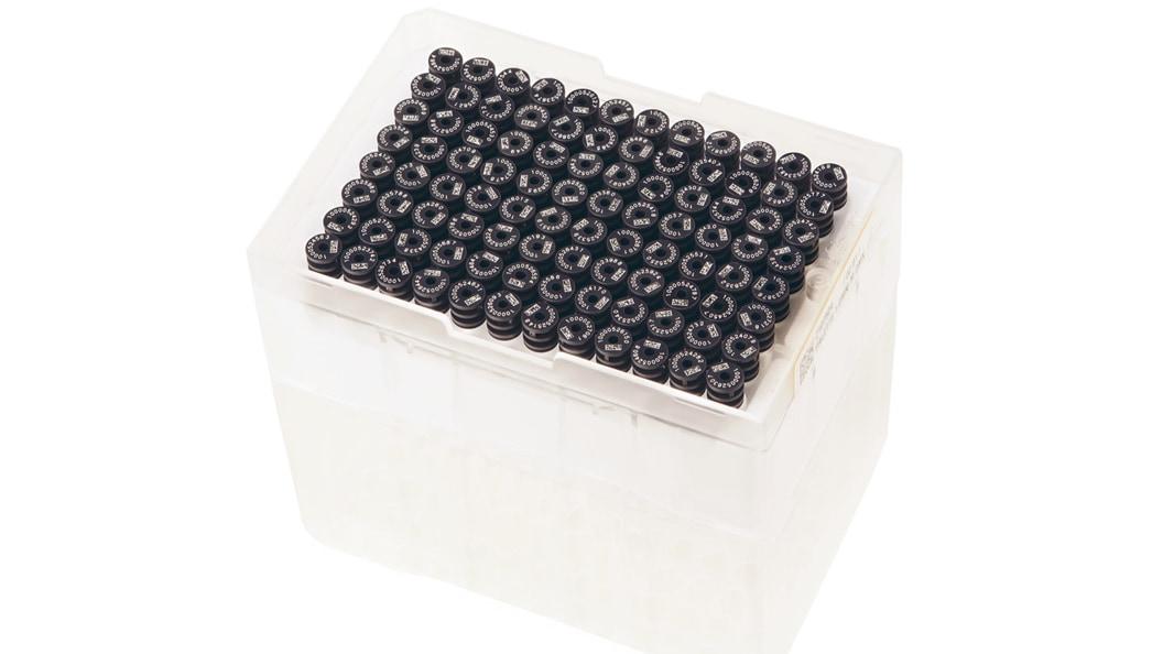 montiertes Rack, inkl. Laserbeschrifteten Caps