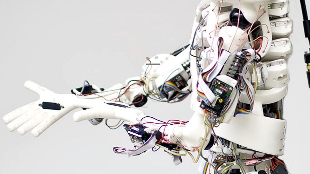 Roboy im Detail (Bilder: Darko Todorovic)