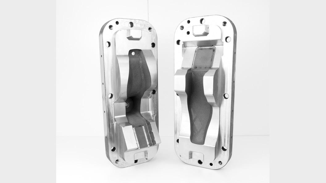 Laser-sintered metal molds for fabrication of EPP foam ©Rober Hofmann GmbH