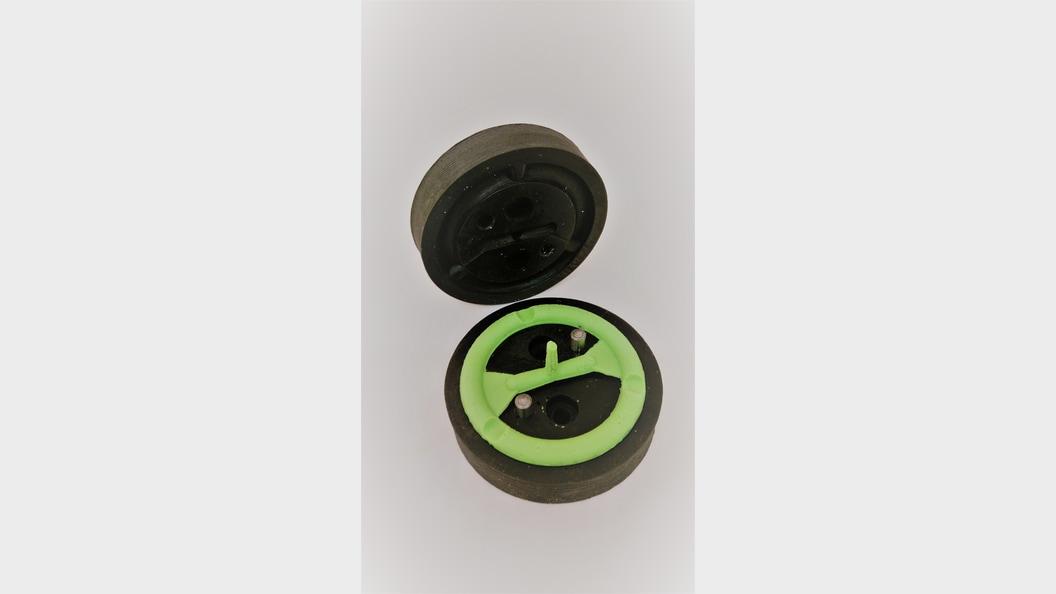 FDM-gedruckte PEEK-Formen mit Silikondichtring ©Fabru GmbH