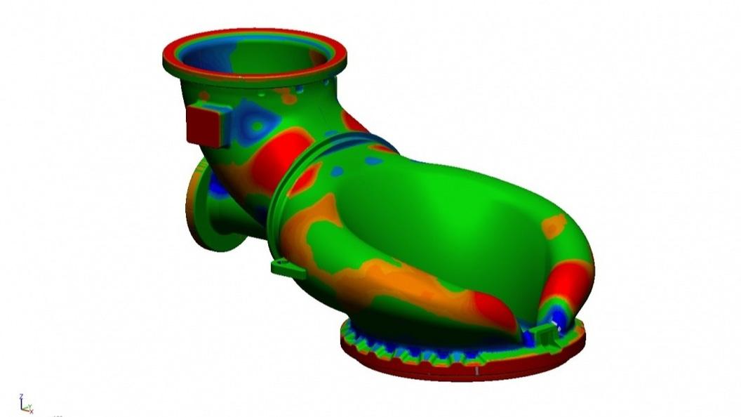 Vergleich zwischen 3D-Scandaten und rekonstruiertem CAD-Modell