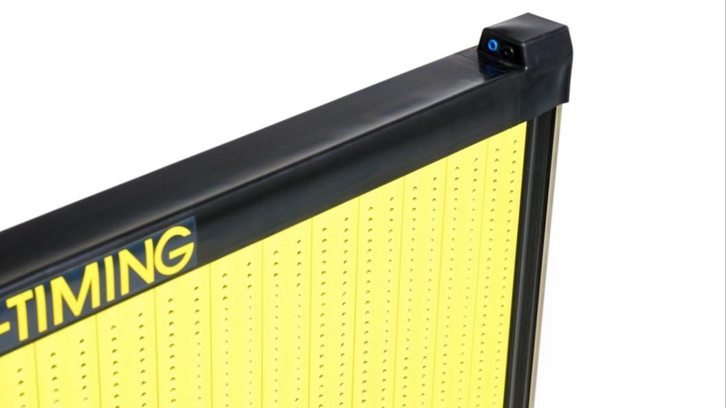 Neugestaltetes Gummiprofil für Anschlagplatten zur Zeitmessung