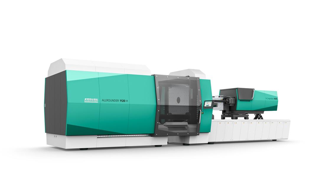 Der hybride ALLROUNDER 1120 H erweitert das ARBURG Produktportfolio bis 6.500 kN Schließkraft.
