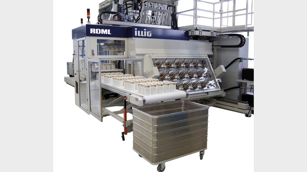 ILLIG Thermoform Becherlanlage RDML 70c  mit integriertem IML