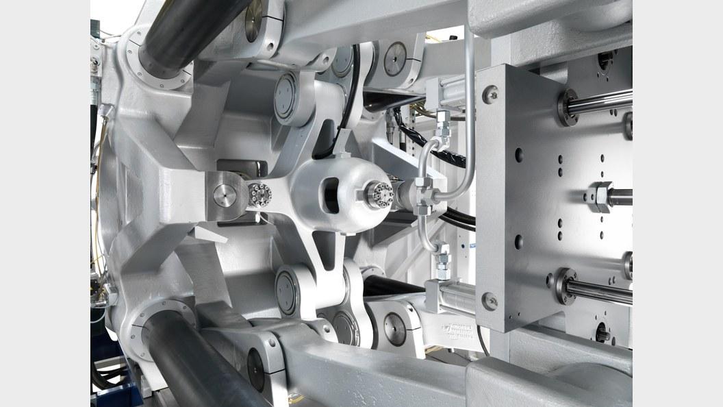 Mit 1,9 s die kürzeste Trockenlaufzeit in der Grössenklasse 7500 kN (gemessen nach Euromap)