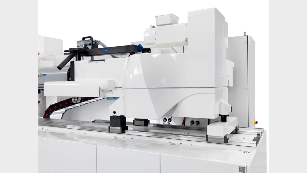Vollelektrisches Spritzaggregat mit integrierter Kraftmessung für optimale Schuss-zu-Schuss Konstanz