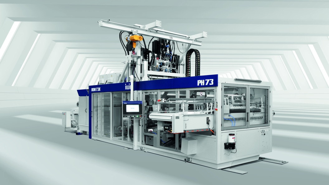 The new ILLIG pressure forming machine IC-RDM73k