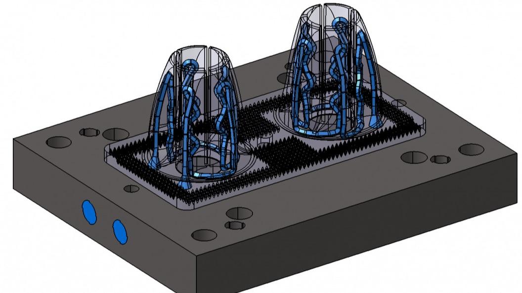 Hybrid-Spritzgusswerkzeug mit konturnaher Kühlung