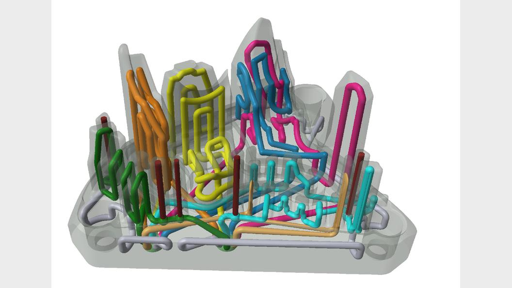Werkzeugeinsatz für den Spritzguss mit konturnaher Kühlung
