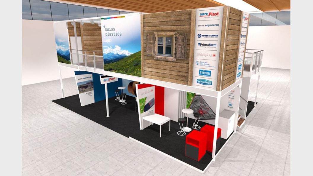 Dieses Jahr präsentiert sich Swiss Plastics unter dem Dach einer Schweizer Alphütte.
