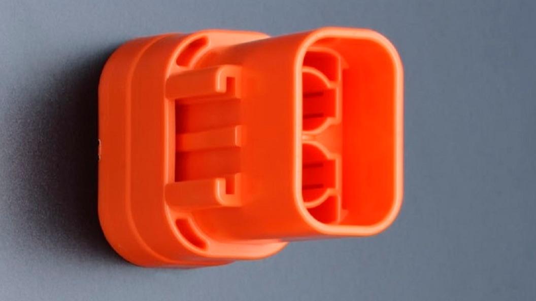 Steckergehäuse hergestellt mit der beschriebenen Spritzgussform
