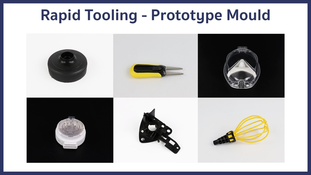 Einige Beispiele für Teile, die wir mit Prototypen Werkzeugen hergestellt haben.