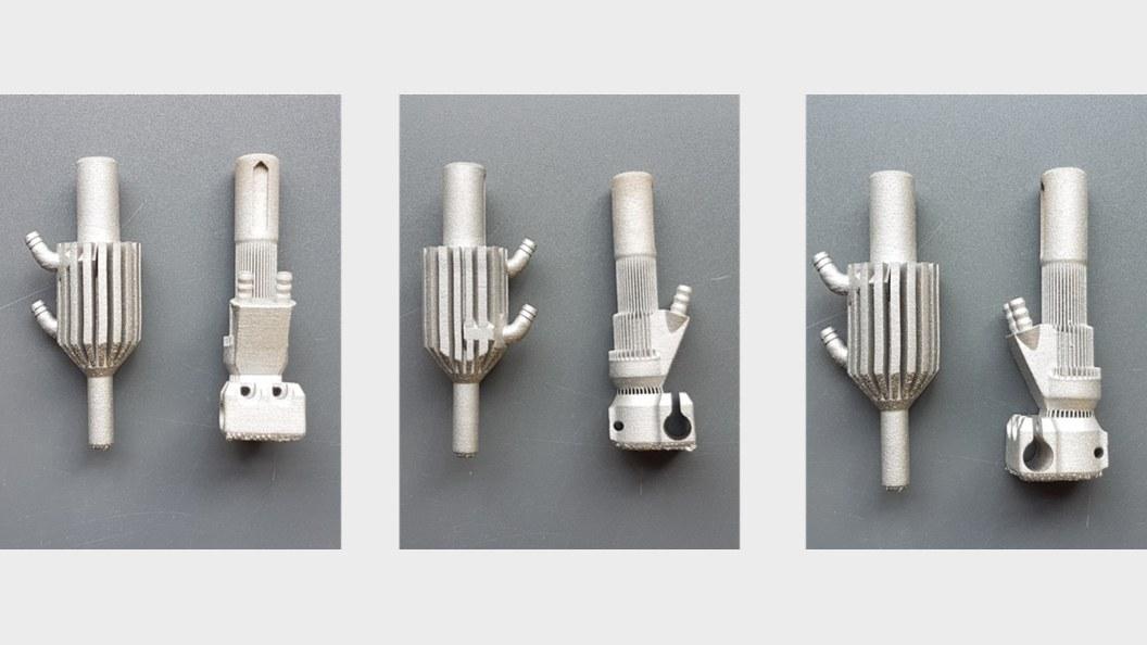 Extruderventil 1 und 2 mit integrierter Kühlung für FDM Drucker additiv hergestellt (SLM) in 1.4404