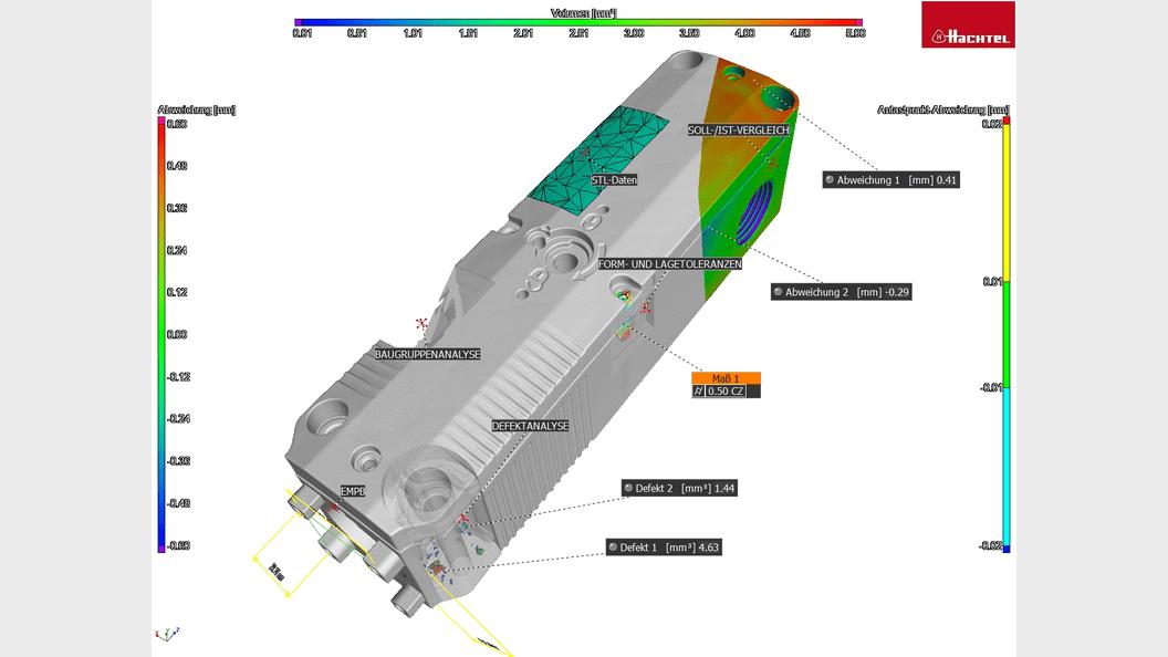 Überblick über die Auswertemöglichkeiten der industriellen Computertomographie
