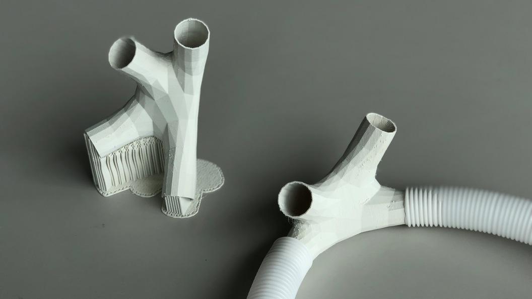 3D-gedruckte Knoten (Verbindungsstücke) aus Creamelt ® TPU-R als verlorene Schalung