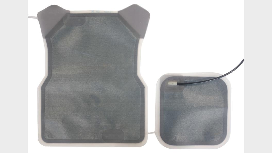 Laser welded parts on cooling-vest