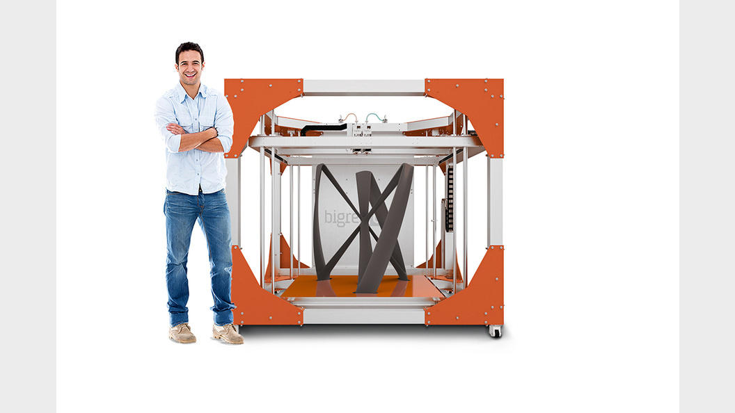 Print components up to 1 cubic meter in a single pass.