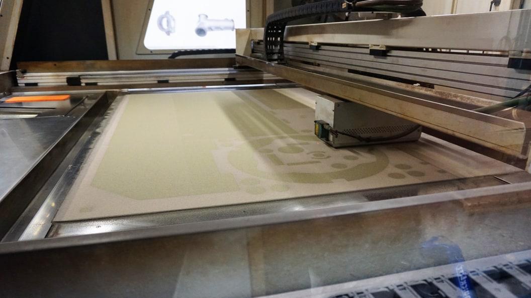 3D printer at work (Binder Jetting)