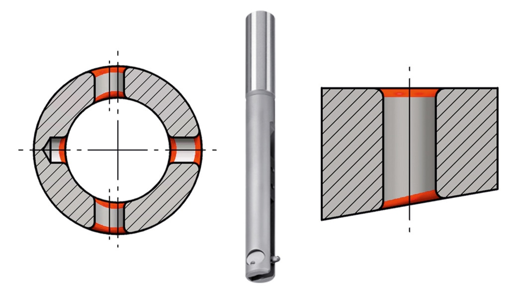Workpiece drawings of typical applications