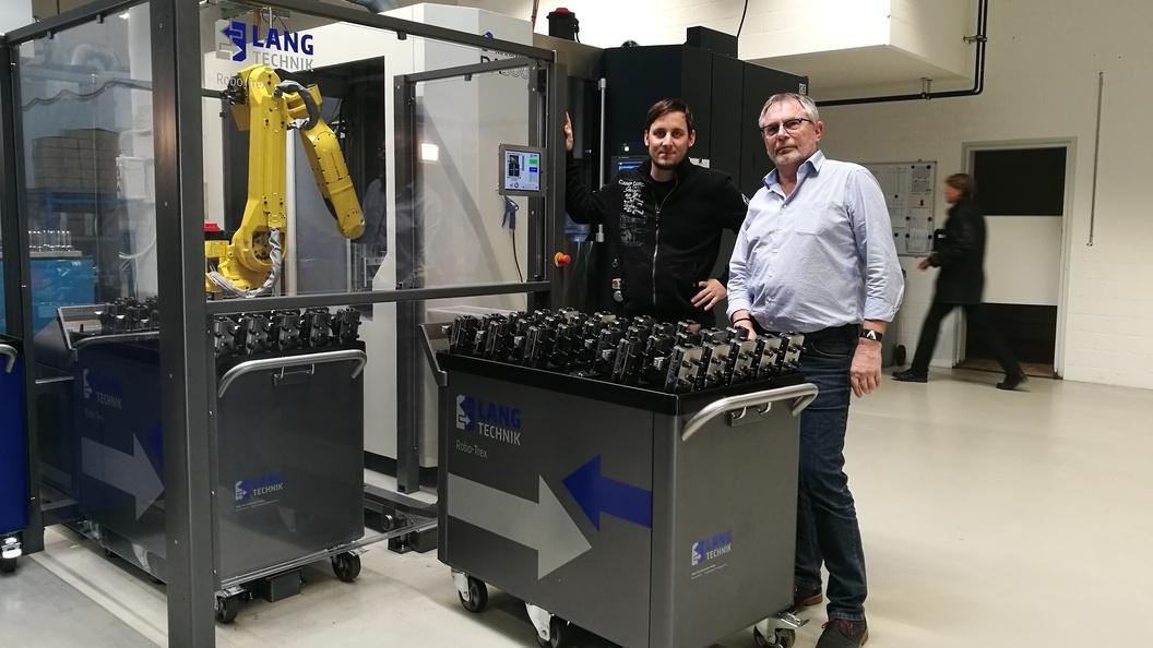 RoboTrex mit Oliver Tschaggelar von Hagmann Tec und Josef Weber Intool