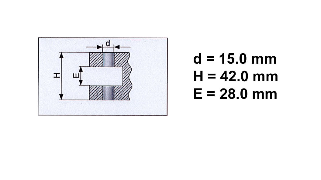 Dimensional drawing of the workpiece