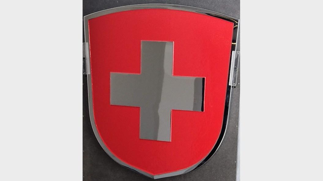 Schweizer Wappen für Eisenbahn
