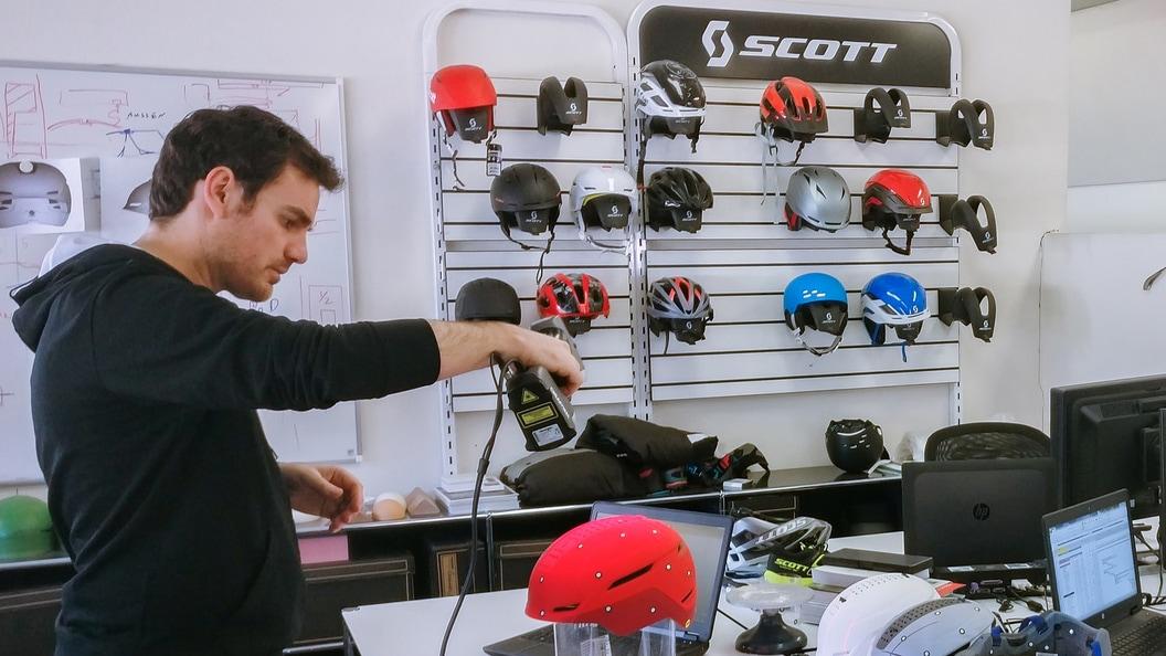 Der HandySCAN 3D hilft den Engineering- und Designteams bei SCOTT Sports